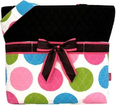 Lollipop Drops Quilted Diaper Bag-BLACK-NWT