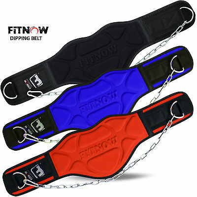 """Weight Lifting Dip Dipping Chain Belt Body Building Exercise Gym 8"""" Wide"""