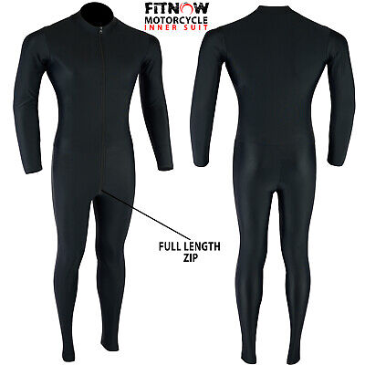 Motorcycle One Piece Suit Base Layer Compression Lycra Inner Rash Guard Black