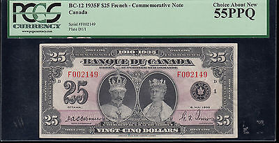 1935 Bank of Canada $25 French - BC-12 PCGS AU55 PPQ