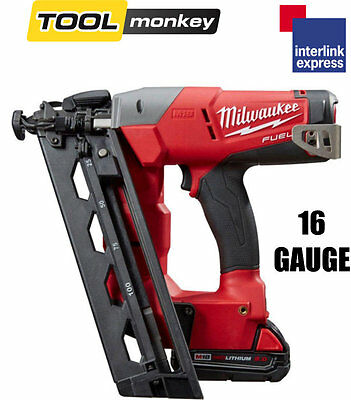 Milwaukee M18CN16GA-202X Angled 16G 18v Nailer Cordless Li-ion Brad 2.0ah Kit