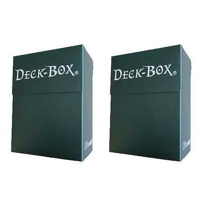 Ultra Pro Deck Box - Green x2 For Yu-Gi-Oh, MTG, Force of Will, Pokemon