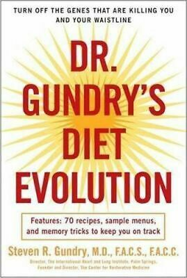 NEW Dr. Gundry's Diet Evolution By Steven R Gundry Paperback Free Shipping