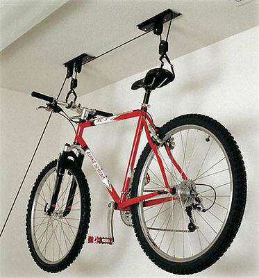 Bicycle Cycle Bike 20KG Storage Lift Ceiling Mount Pulley Hoist Garage/Basement