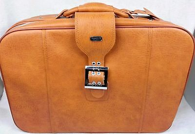 "Vintage MERIDIAN Leather SUITCASE Strap & Buckle LUGGAGE TAG 23"" Overnight Bag"
