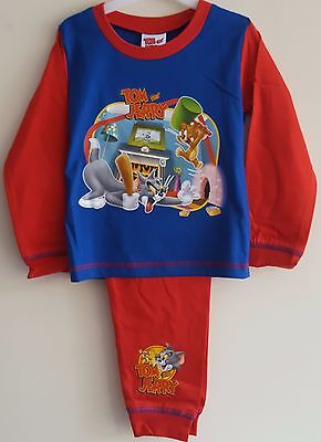 Toddler Childrens Boys Tom & Jerry Pyjamas - Character Sleepwear Nightwear