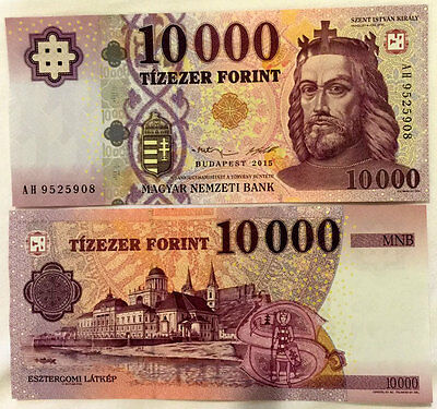 Hungary 10,000 10000 Forint 2015 P New Design Unc