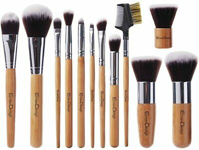 Set da 12 pennelli professionali per make-up ombretto fard correttore labbra etc
