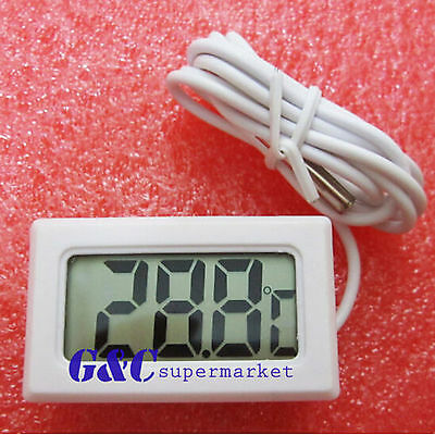 White AQUARIUM TEMPERATURE GAUGE LCD DIGITAL THERMOMETER FOR FISH TANK M101