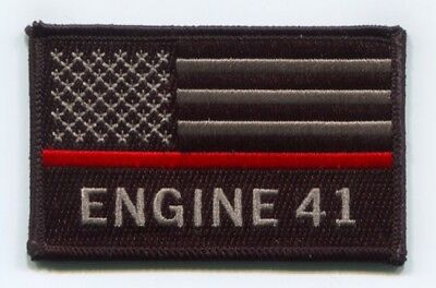 Pleasant View Fire Department Engine 41 Thin Red Line American Flag Patch Colora