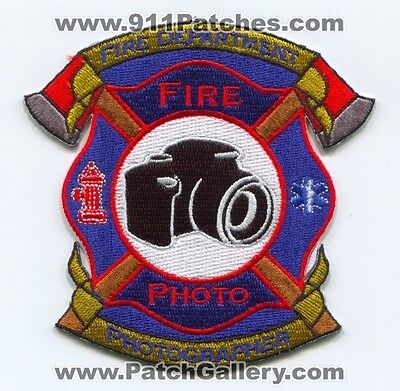 Fire Department Photographer Patch No State Affiliation