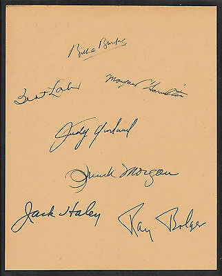 The Wizard of Oz Autographs Reprint On Original Period 1939 8x10 Paper