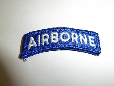 Military Patch Us Army Shoulder Tab Sew On Airborne Blue And White