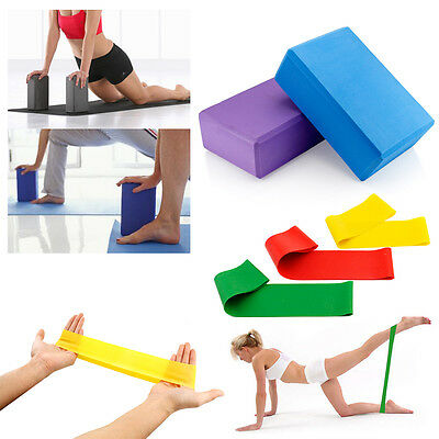 2Pcs Yoga Foaming Foam Brick Block Home Health Gym Exercise Fitness Sport Tool