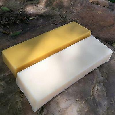 1 lb. Pound Pure Beeswax~ Golden Yellow White Bees Wax Bar ~ Cosmetic Grade