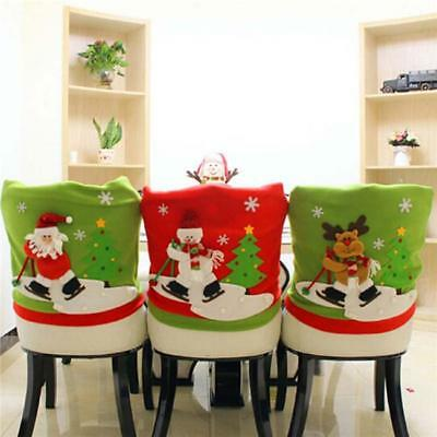 Christmas Chair Covers Dinner Table Santa Snowman Home Decoration Ornaments Gift