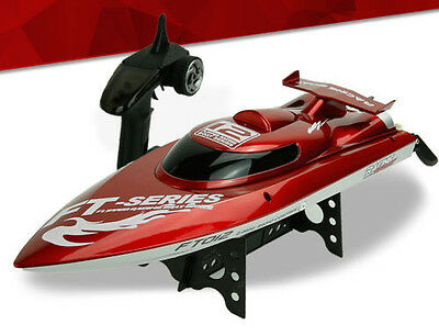 FT012 2.4G 4CH Remote Control RC Brushless Racing Boat High Speed 45km/h Red AUS