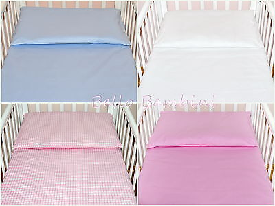 2 pcs Nursery Baby BEDDING SET/PILLOWCASE/DUVET COVER 4 Crib/Cot/Cot Bed/Bed
