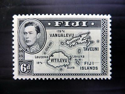 FIJI 1938 G.VI - 6d SG260 Die I Mounted Mint NEW PRICE FP8021