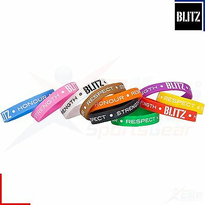 Blitz Silicone Grading Wristbands All Colours Karate Judo Jujitsu Kickboxing