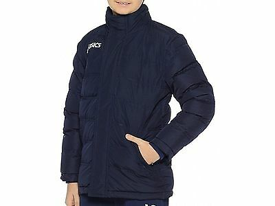 Asics New Alpi Junior Childrens Youths Warm Long  Sports Running Jacket - Navy