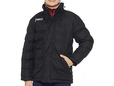Asics New Alpi Junior Childrens Warm Long Fitness Sports Running Jacket - Black