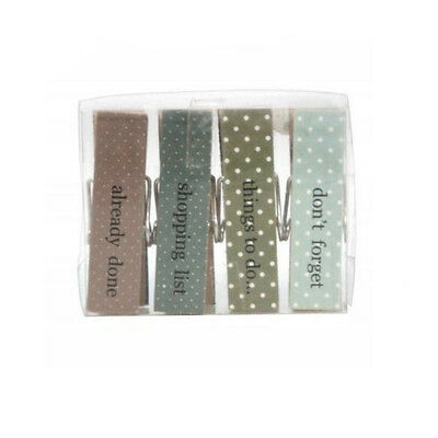 Gisela Graham Pastel Days of the week magnetic Memo clips -  Set of Four