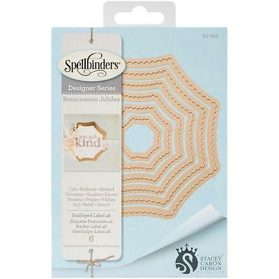 Spellbinders Nestabilities Scalloped Label 46 Stanz- Prägeschablonen S4-645