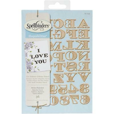 Spellbinders Shapeabilities Dies Etched Alphabet  Number Stanzschablonen Alphabe