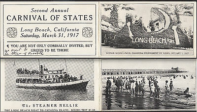 1917 Tournament of Roses Long Beach California Steamer Nellie Boat Catalina Ship