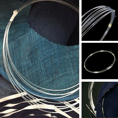 Plastic Wire/Brim Reed for Hat Brim - Clear 1.3mm Millinery Hat For 5 Meter B101