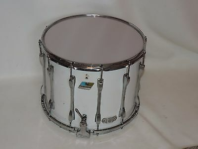 "Ludwig 15"" Marching Snare Drum Blue Olive New Heads"
