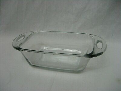 1.5 Qt Anchor Hocking Ovenware Clear Glass Bread Meat Loaf Baking Dish Pan