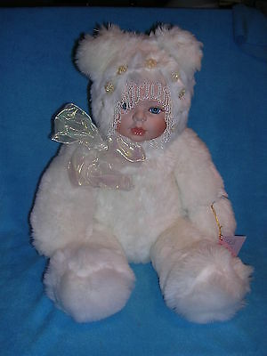 Pearl Bear Snow Baby Doll by Seymour Mann Porcelain Face VINTAGE COLLECTIBLE