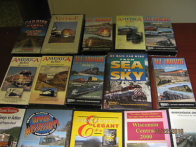 16 North American Railroading VHS Tapes - Excellent condition