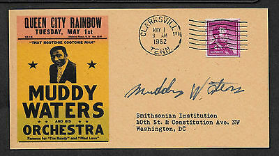 Personalized Muddy Waters Autograph 1962 Blues Concert Reprint Postcard *067