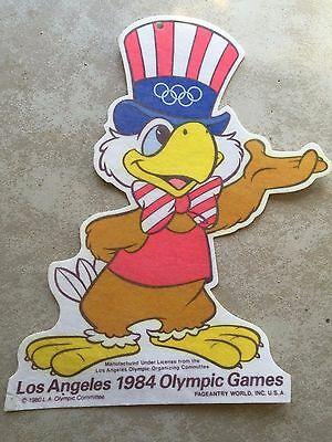 Vintage 1984 Sam The Eagle Sign / Poster - USA Los Angeles Summer Olympics