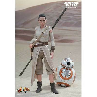 """Star Wars - Rey & BB-8 12"""" 1:6 Scale Action Figure Set NEW Hot Toys"""