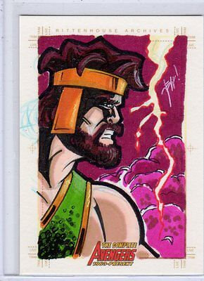 Complete Avengers sketch card by Jeff Chandler