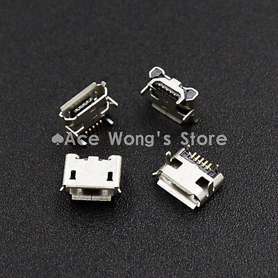 10pcs Micro USB 5P,5-pin Micro USB Jack,5Pins Micro USB Connector
