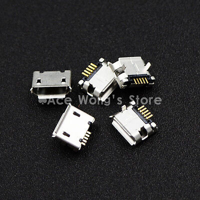 10pcs Micro USB Type B Female 5Pin DIP Socket Jack Connector Port Charging