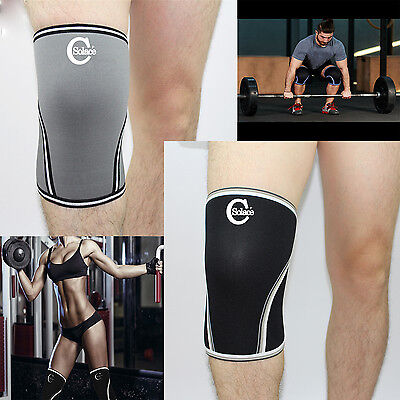 Solace -C 7MM Neoprene WEIGHT LIFTING KNEE Compression Support Brace Gym Sleeve
