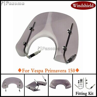 For Vespa Primavera 50CC 125 150 cc Dark Tint Flyscreen Windscreen Fitting Kit