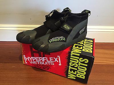 NEW Hyperflex Amp 2mm Low Reef Boot, Size 8 Surfing, Windsurfing & Wakeboarding