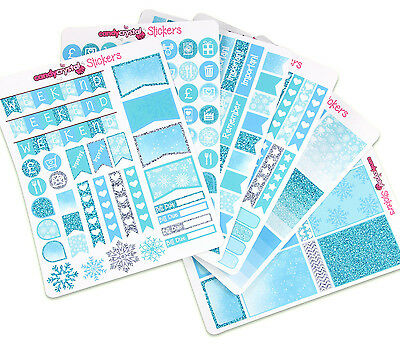 Winter Themed MONTHLY KIT Personal Planner Organiser Stickers Erin Condren x 6