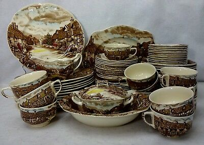 JOHNSON BROTHERS china OLDE ENGLISH COUNTRYSIDE - Multicolor 54-piece SET