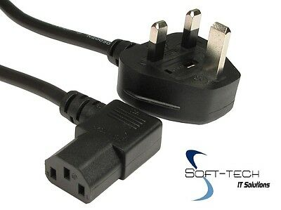 NEW UK Mains 1.8M Angled Power Plug Kettle Lead Cable Cord PC Monitor TV Printer