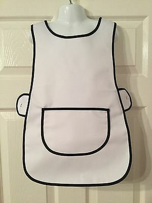 Wholesale Job Lot 10 Brand New Kids Childrens Tabards Aprons White Clothes Craft