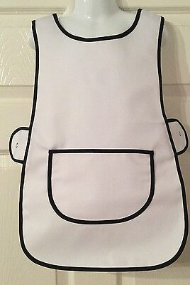 Wholesale Job Lot 20 Brand New Kids Tabard Aprons White Clothes Craft Toddler