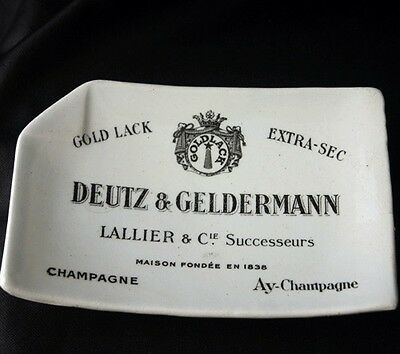 Vintage DEUTZ & GELDERMANN Advertising Ashtray Paris